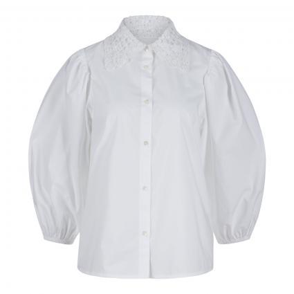 Bluse 'Zelder' mit Zierpelenbesatz weiss (WHITE WH00) | 38