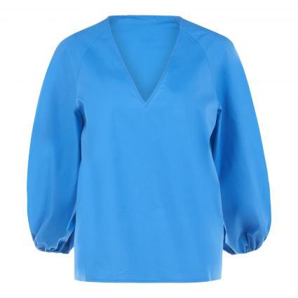 Bluse 'Zelon' mit V-Ausschnitt  blau (DEEP SEA DS04) | 36
