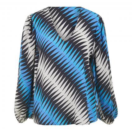 Bluse 'Zennel' mit V-Ausschnitt  blau (COMBO2 DEEP SEA Z2DS) | 40