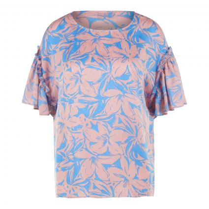 Bluse 'Zendive' mit All-Over Muster blau (COMBO2 AFTER SUN) | 38