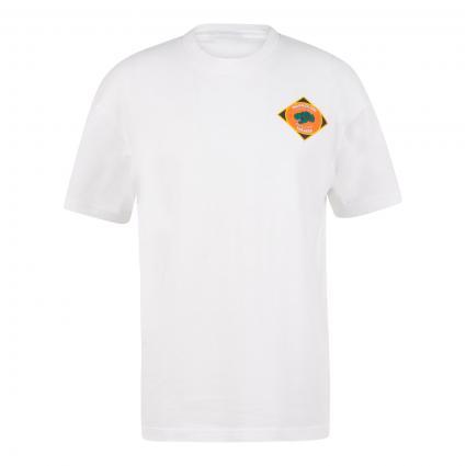 T-Shirt 'Alhoa' mit Print  weiss (F4L1 white graphic) | XL