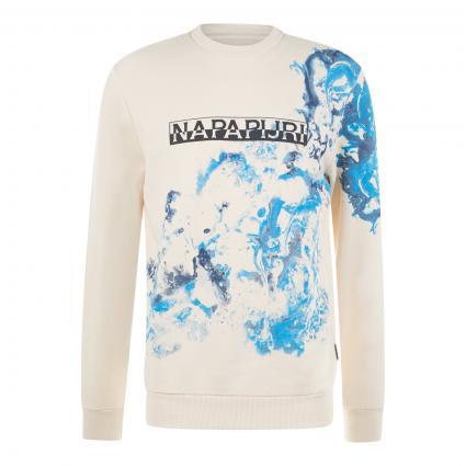 Sweatshirt 'Bylli' mit Logo-Print  ecru (NA91 new milk) | XXL