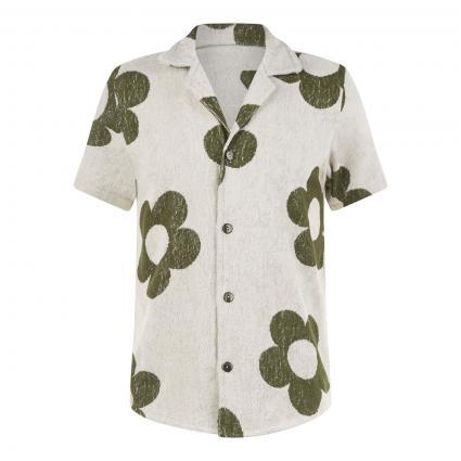 Kurzärmeliges Hemd 'Terry' aus Frottee ecru (43 meadow terry)   L