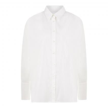 Lange Bluse aus Baumwolle  weiss (10101 weiß) | 38