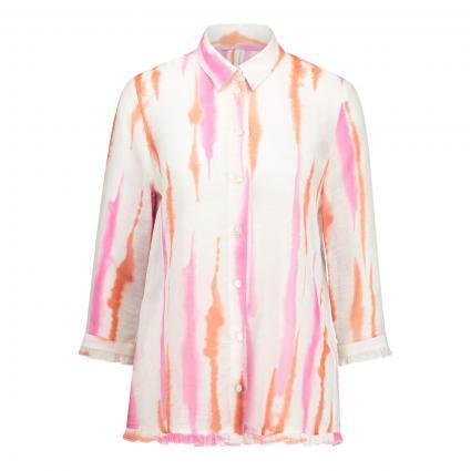 Bluse mit Rüschen-Details  weiss (40303 weiß pink oran)   36