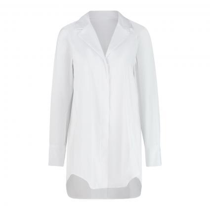 Lange Bluse mit V-Ausschnitt  weiss (10100 weiß) | 42
