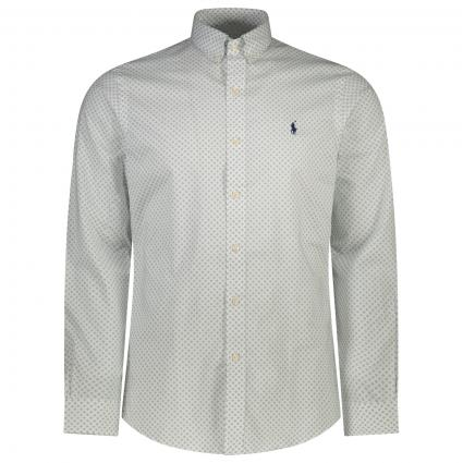 Slim-Fit Button-Down Hemd mit All-Over Muster  divers (001 DIAMOND GRID) | XL