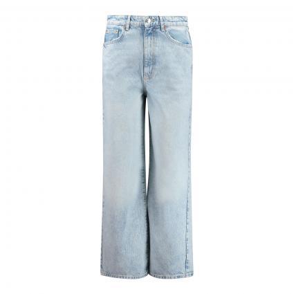 Jeans mit weitem Bein in Used-Optik  blau (5029 BLEACHED BLUE)   42