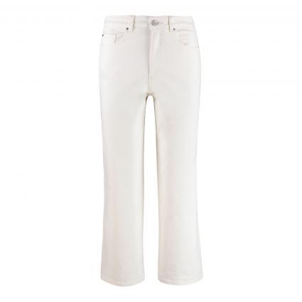 Jeans mit weitem Bein  ecru (108 ecru) | S