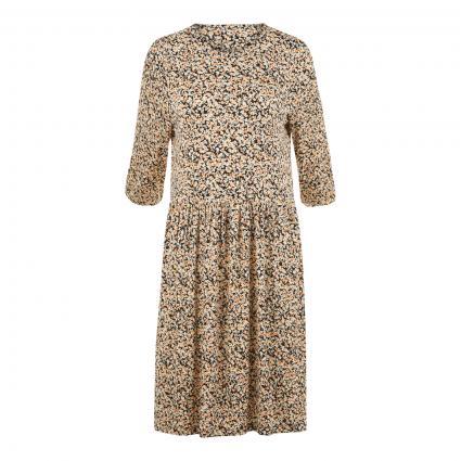 Kleid 'Mabea' mit floraler Musterung beige (BLACK FLOWER) | XS