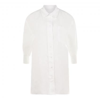 Hemdbluse mit Brusttasche weiss (100 WHITE) | 40