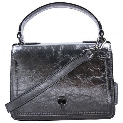 Crossbody-Tasche mit Label-Detail  silber (290 SILVER) | 0
