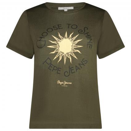 T-Shirt mit frontalem Print  oliv (736 RANGE) | L