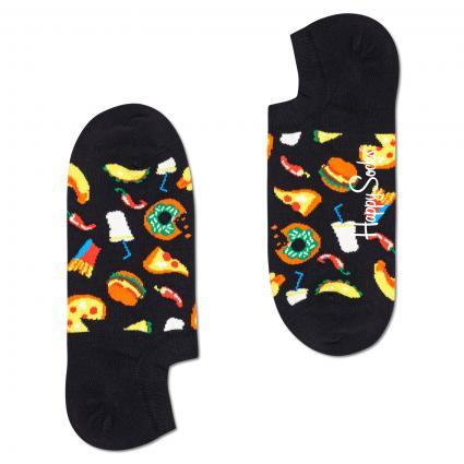Sneaker Socken mit Fast Food-Motiven schwarz (9300 junk food no show) | 41-46