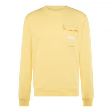 Sweatshirt mit Brusttasche gelb (2200 sunshine) | M