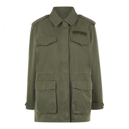 Jacke mit großen Taschen oliv (736 range)   M