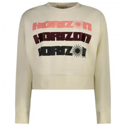 Sweatshirt mit frontalem Print  ecru (0001 Off White) | M