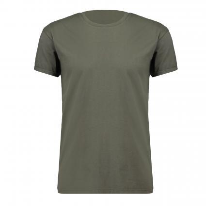 Basic T-Shirt 'Zander' mit Rundhalsausschnitt grün (8900 empty bottle) | L