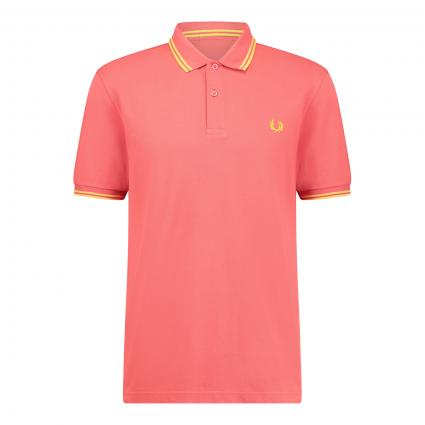 Poloshirt mit Kontrast-Details rot (A67 summer red) | M