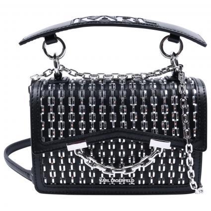 Crossbody Tasche mit Besatz  schwarz (987 BLACK/SILVER)   0