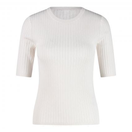 T-Shirt 'Naomi' mit Rippstruktur beige (G6K5 OCEAN SALT ) | L