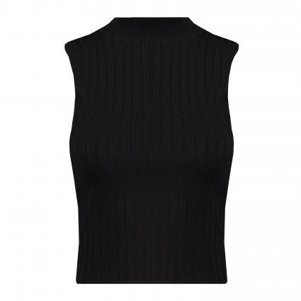 Ärmelloses Shirt ' Aline' mit Stehkragen schwarz (JBLK JET BLACK A996) | M