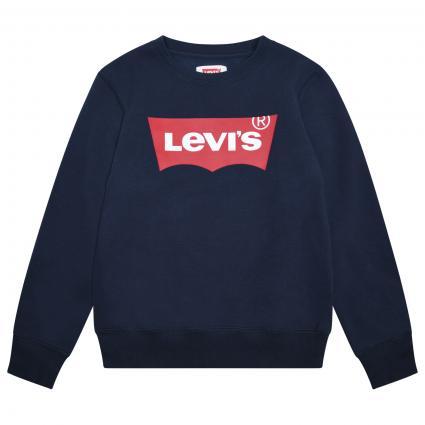Sweatshirt mit frontalem Label-Print  blau (C8D DRESS BLUES) | 140