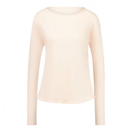 Langarmshirt mit Rundhalsausschnitt  rose (BISCUIT) | L