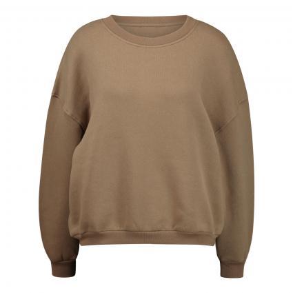 Cropped Sweatshirt mit Rundhalsausschnitt  braun (HERISSON) | M
