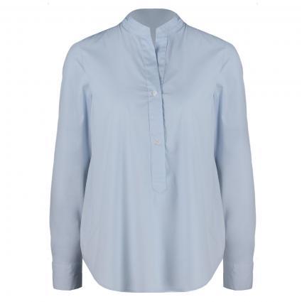 Bluse mit Stehkragen blau (22 bleu) | 44