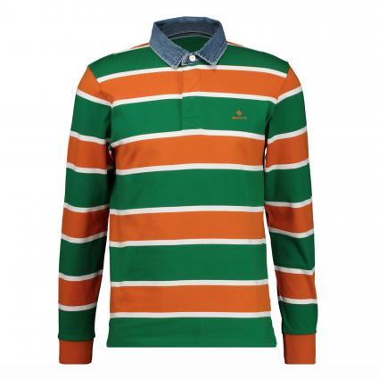 Langarm Poloshirt mit Jeanskragen  orange (814 Savannah) | M