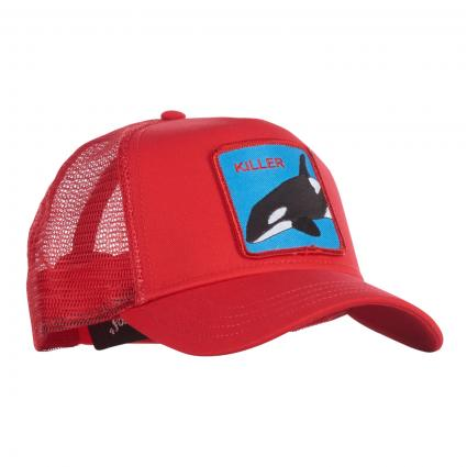 Cap 'Killer Whale' mit Patch  rot (0626-RED)   0