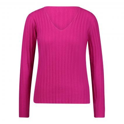 Cashmere-Pullover mit Ripp-Struktur pink (fuchsia) | XXL
