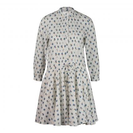 Kleid mit All-Over Druck  ecru (VANILLE VANI) | XS