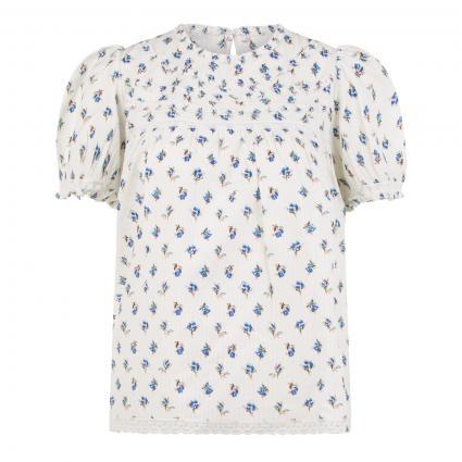 Kurzärmelige Bluse 'Tua Dobby' ecru (VANILLE VANI) | XS