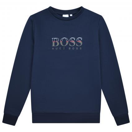 Pullover mit frontalem Label Print blau (849 BLEU CARGO) | 176