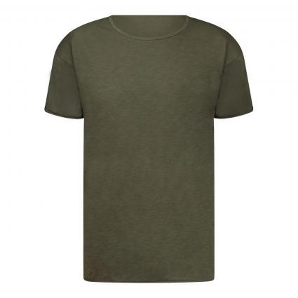 T-Shirt 'Roger' mit leichter Struktur oliv (oliv)   L