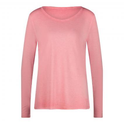 Langarmshirt mit weitem Rundhalsausschnitt pink (660 tea rose)   S