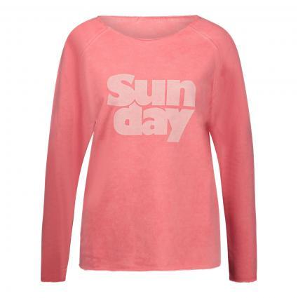Sweatshirt 'Lily Sunday' mit Print pink (660 tea rose) | XL
