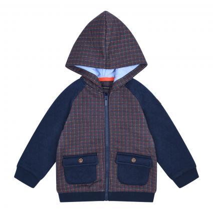Sweatshirt Jacke mit aufgesetzten Taschen  blau (081 BLUE) | 86