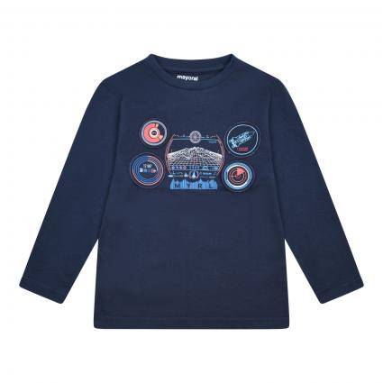 Langarm Shirt mit Astronauten-Print blau (031 INDIGO) | 122