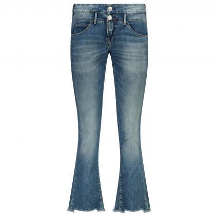 Jeans mit weitem Bein  blau (833 mariana blue)   27