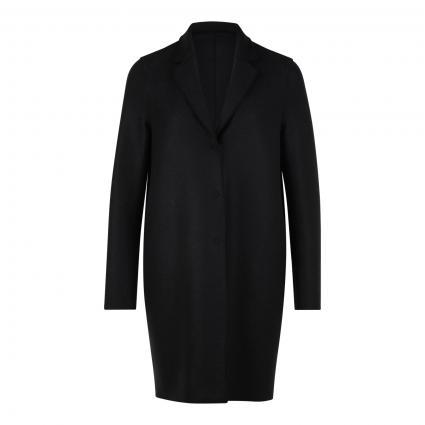 Mantel aus Boiled Wool schwarz (black 199) | 40