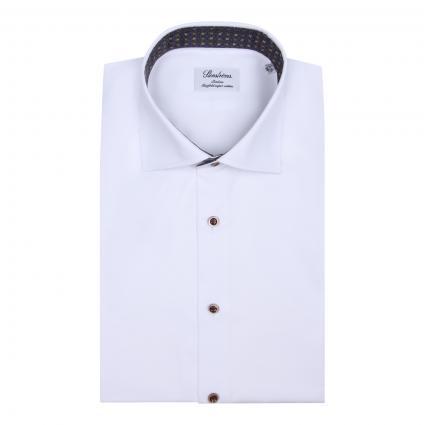 Slimline Hemd mit Muster-Details weiss (000 weiss) | 44