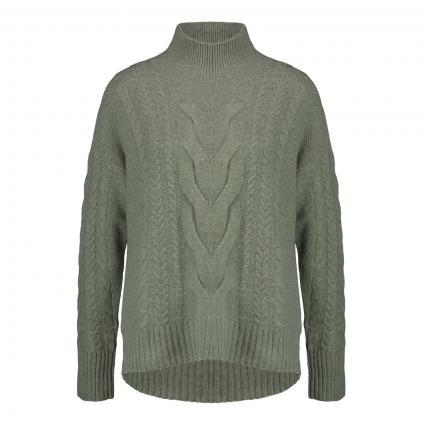 Cashmerepullover mit Zopf-Muster grün (1400 sage) | 38
