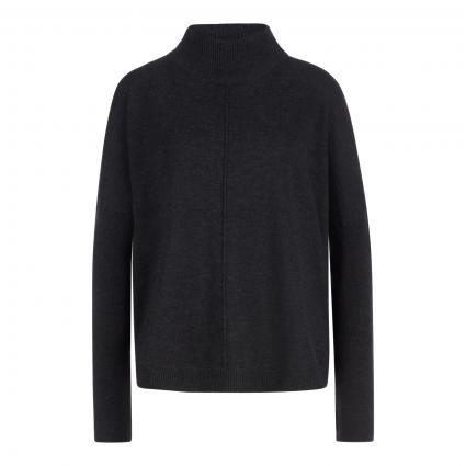 Oversized Pullover mit Rollkragen anthrazit (1033 dark grey) | 40