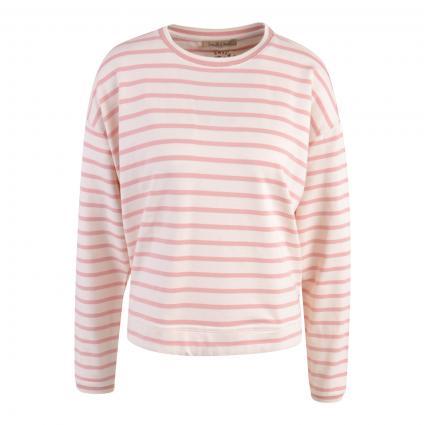 Oversized Shirt mit Ringelmuster rose (1476 blush strp)   XS