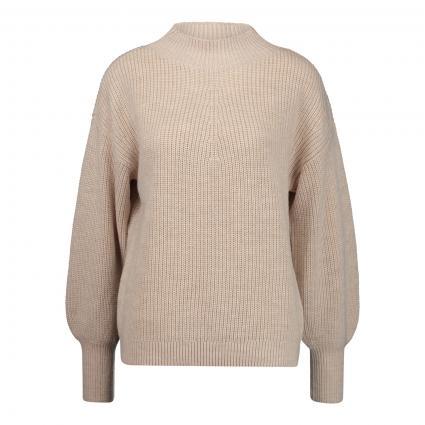 Oversized Pullover aus Merinowolle beige (1320 light beige) | 42
