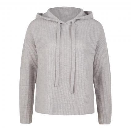 Cashmere Pullover mit Kapuze silber (silver mel.) | M