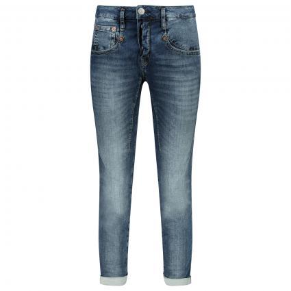 Slim-Fit Jeans in Used-Optik blau (771 relaxed) | 26